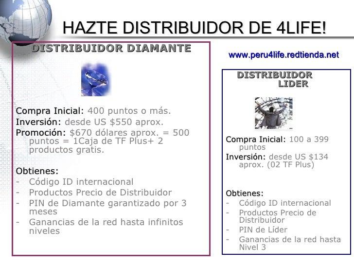 <ul><li>DISTRIBUIDOR DIAMANTE </li></ul><ul><li>Compra Inicial : 400 puntos o más. </li></ul><ul><li>Inversión:  desde US ...