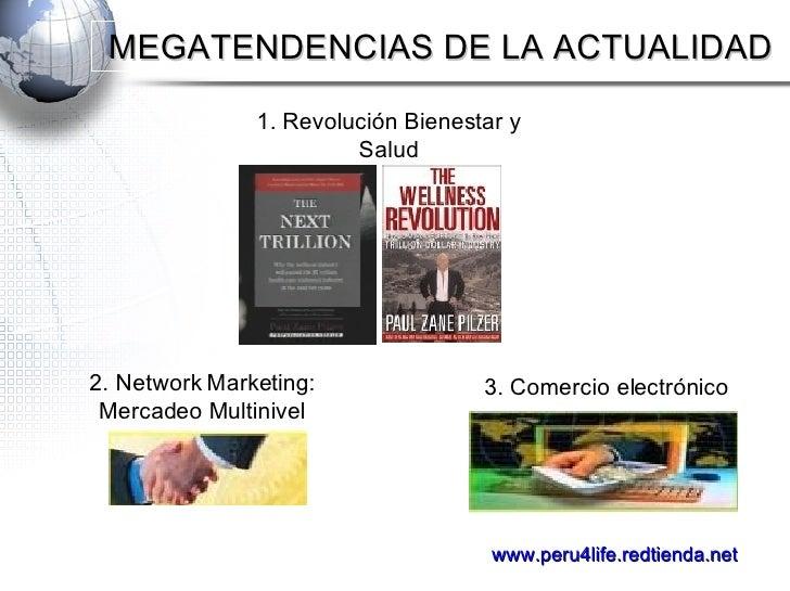 3. Comercio electrónico 2. Network Marketing: Mercadeo Multinivel 1. Revolución Bienestar y Salud MEGATENDENCIAS DE LA ACT...