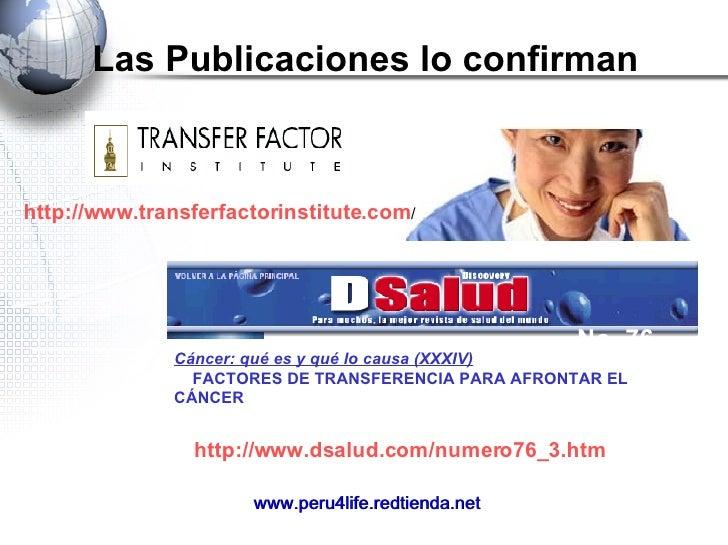 Las Publicaciones lo confirman Cáncer: qué es y qué lo causa (XXXIV)  FACTORES DE TRANSFERENCIA PARA AFRONTAR EL CÁNCER...