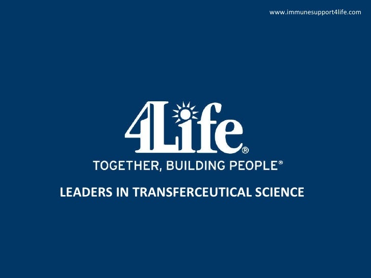 LEADERS IN TRANSFERCEUTICAL SCIENCE www.immunesupport4life.com