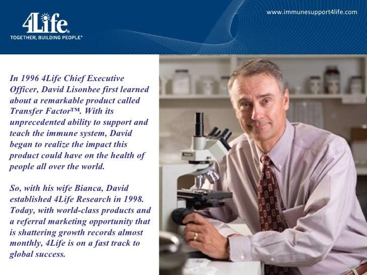 4LIFE RESEARCH Business Compensation Plan Slide 3