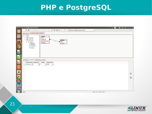 21 PHP e PostgreSQL