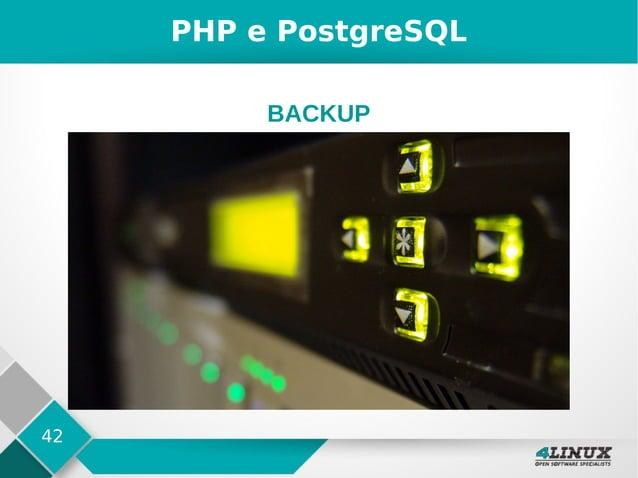 42 PHP e PostgreSQL BACKUP