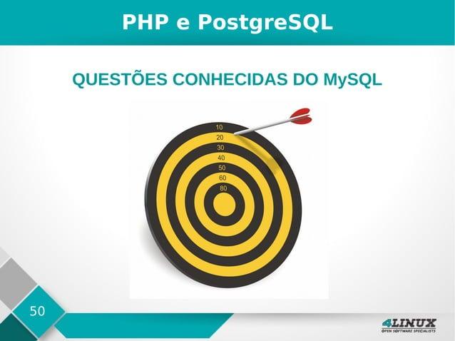 50 PHP e PostgreSQL QUESTÕES CONHECIDAS DO MySQL