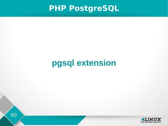 60 PHP PostgreSQL pgsql extension