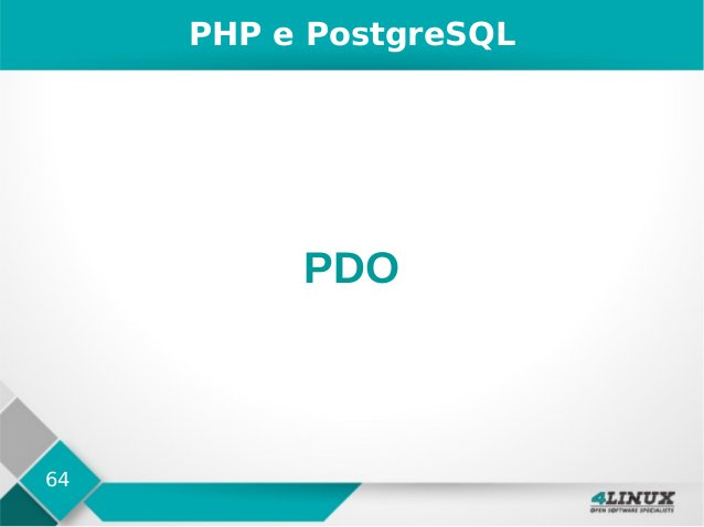 64 PHP e PostgreSQL PDO