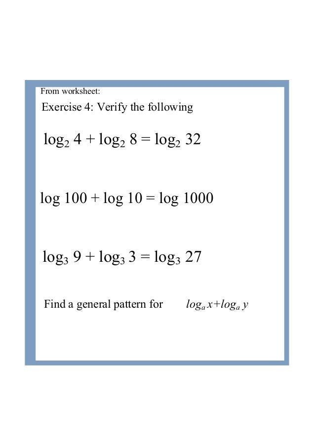 4 Logarithms Laws