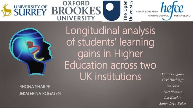 Longitudinal analysis of students' learning gains in Higher Education across two UK institutions RHONA SHARPE JEKATERINA R...
