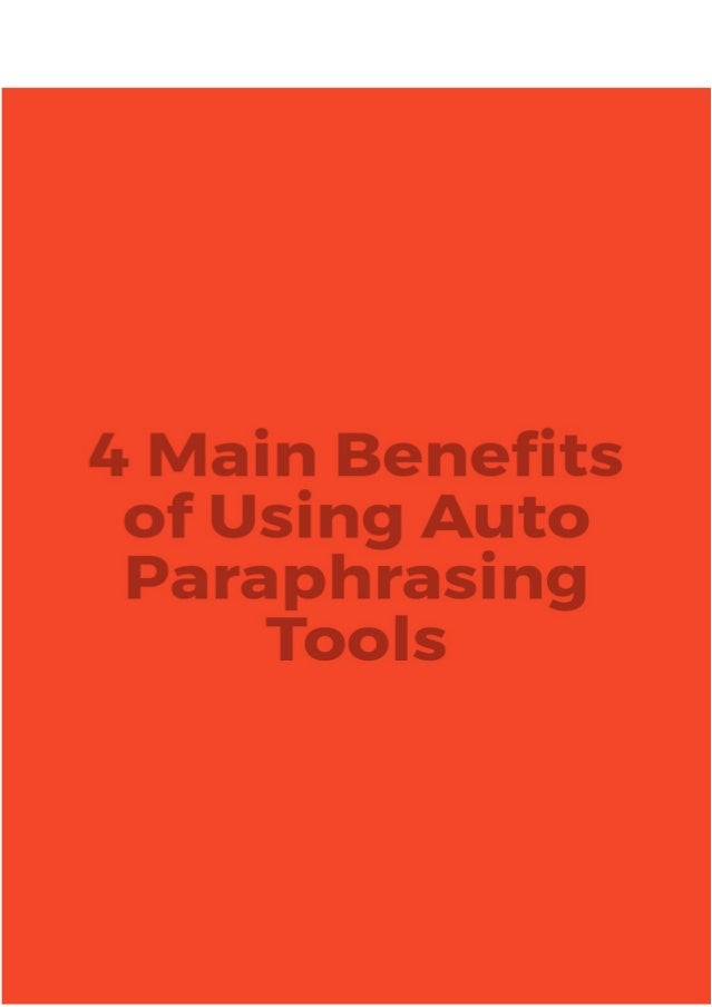 What is the benefits of paraphrasing