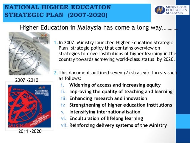 4 malaysia kppt seameo 9 march 2015 v6 suggestions and recommendations 3 1 2007 ministry launched higher education malvernweather Gallery