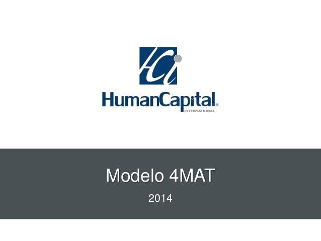 Modelo 4MAT 2014
