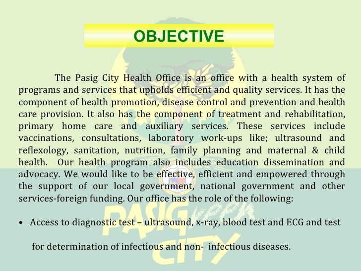 Annex D Pasig City Initiatives On Mdg 5