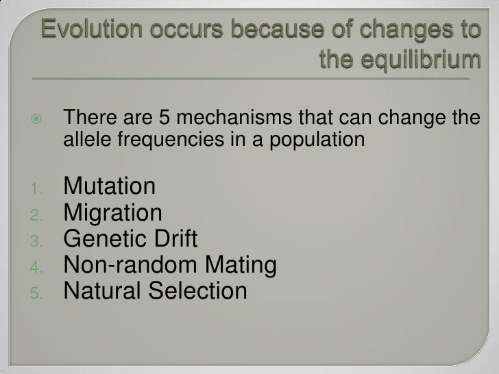 Can Natural Selection Change Allele Frequencies