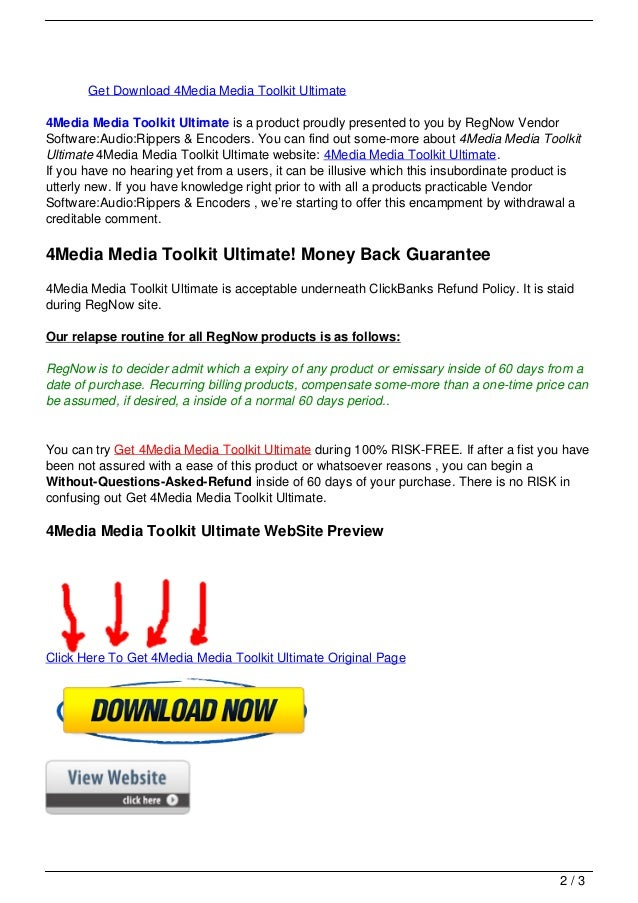 Get Download 4Media Media Toolkit Ultimate4Media Media Toolkit Ultimate is a product proudly presented to you by RegNow Ve...