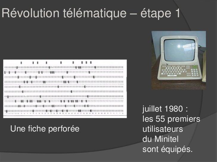 Révolution télématique – étape 1                         juillet 1980 :                         les 55 premiers Une fiche ...