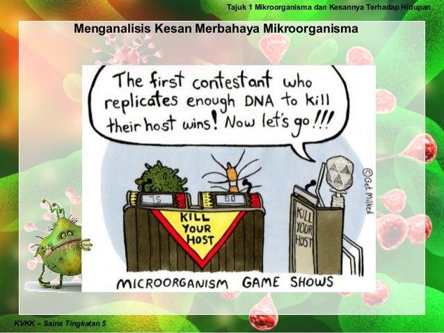 Tajuk 1 Mikroorganisma dan Kesannya Terhadap Hidupan               Menganalisis Kesan Merbahaya MikroorganismaKVKK – Sains...