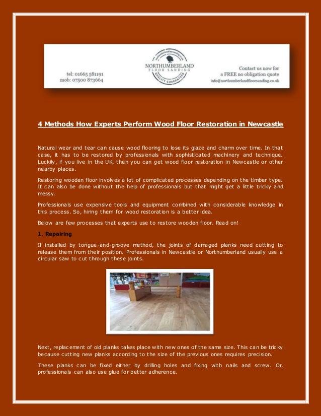 4 Methods How Experts Perform Wood Floor Restoration In Newcastle