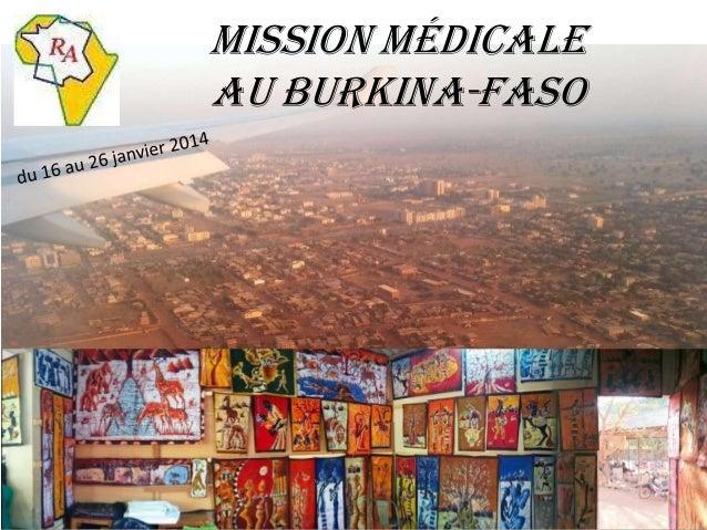 Mission médicale au Burkina-Faso