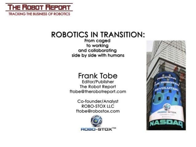 Frank Tobe on Skolkovo Robotics 2014