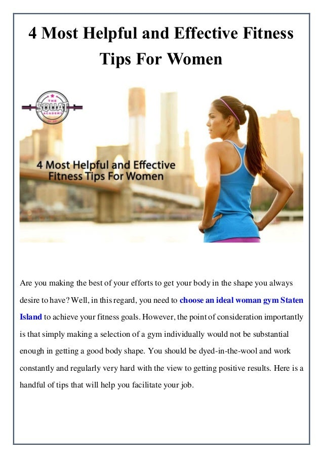 76f85b5948 4 Most Helpful and Effective Fitness Tips For Women Are you making the best  of your ...