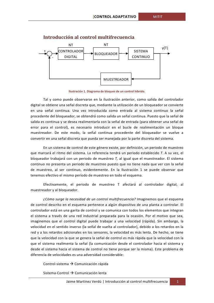 [CONTROL ADAPTATIVO                       MITIT       Introducción al control multifrecuencia                       NT    ...