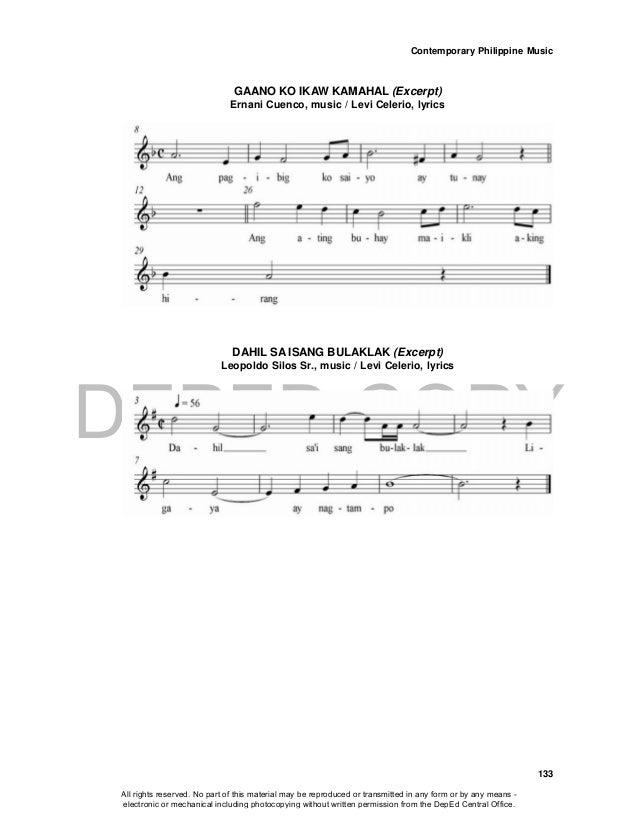 DEPED COPY Contemporary Philippine Music 133 GAANO KO IKAW KAMAHAL (Excerpt) Ernani Cuenco, music / Levi Celerio, lyrics D...