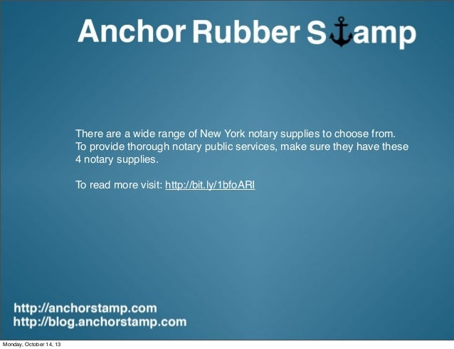 4 Must Have Notary Supplies For New York Notaries