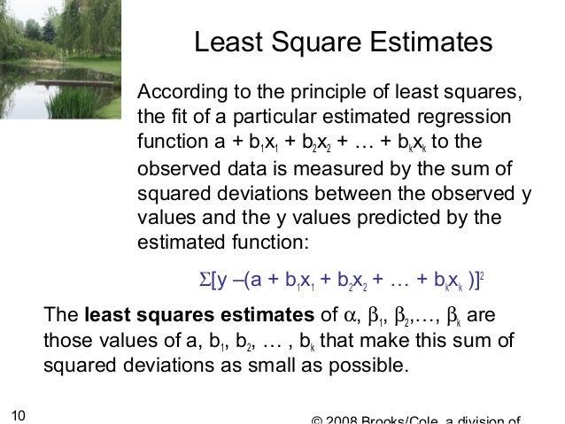 principle of least squares pdf