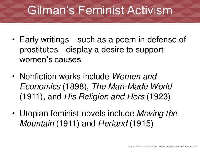 a paper on life and works of charlotte perkins gilman Got another a paper on life and works of charlotte perkins gilman book report to do english teachers have the inconsiderate habit of assigning mammoth-sized works of literature to read and then actually expecting you to.
