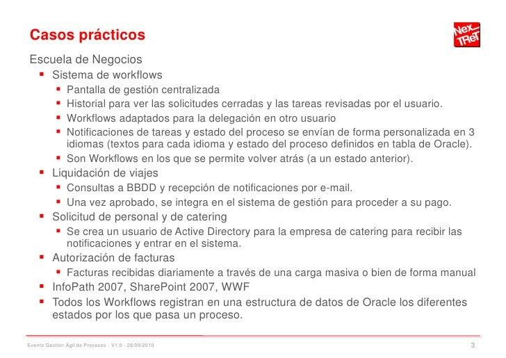 Casos prácticos Escuela de Negocios      Sistema de workflows        Pantalla de gestión centralizada        Historial ...