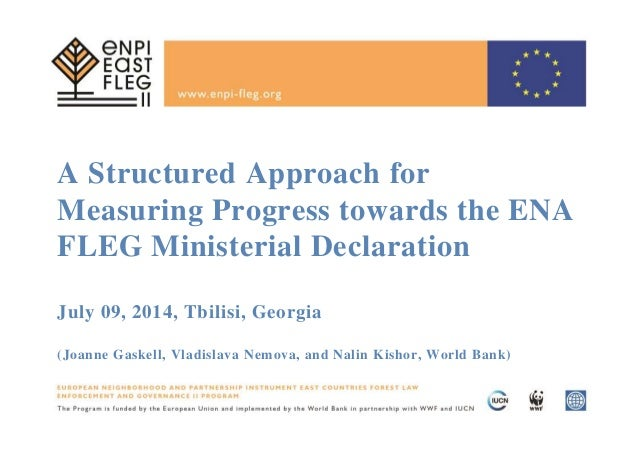 A Structured Approach for Measuring Progress towards the ENA FLEG Ministerial Declaration July 09, 2014, Tbilisi, Georgia ...