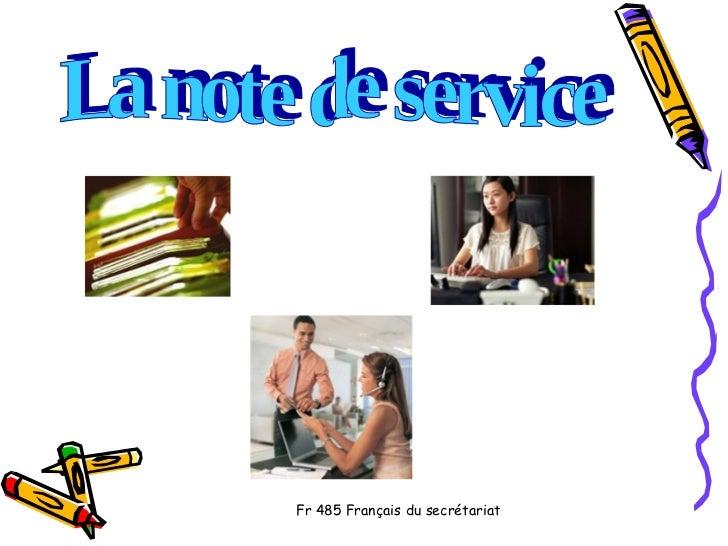 La note de service
