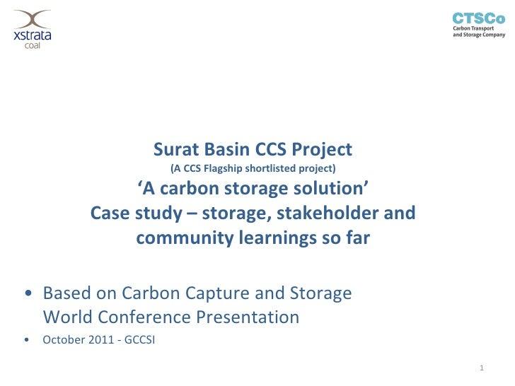 Surat Basin CCS Project                           (A CCS Flagship shortlisted project)                 'A carbon storage s...