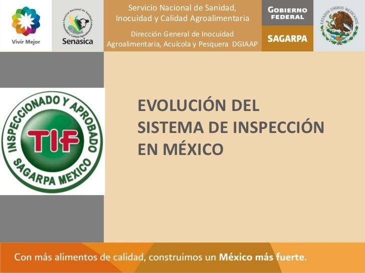 Servicio Nacional de Sanidad,  Inocuidad y Calidad Agroalimentaria       Dirección General de InocuidadAgroalimentaria, Ac...
