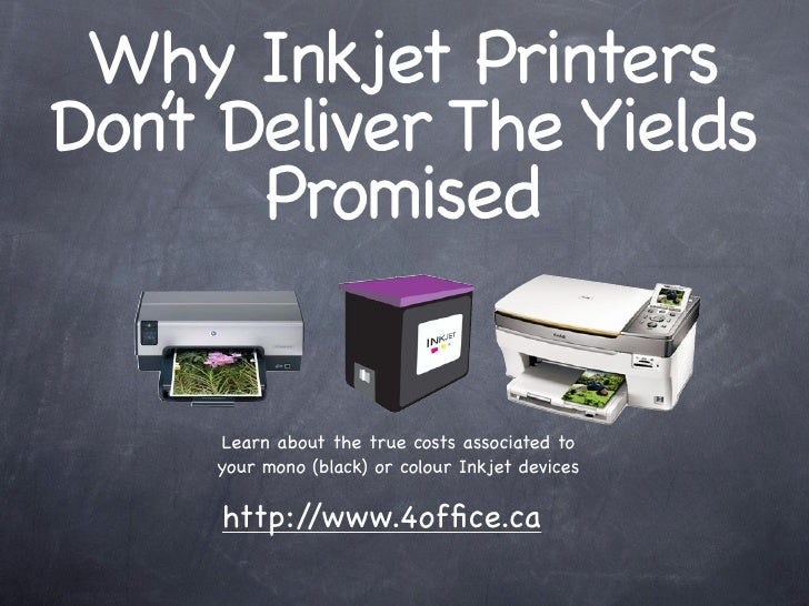 Why Inkjet Printers Don' Deliver The Yields    t       Promised        Learn about the true costs associated to      your ...