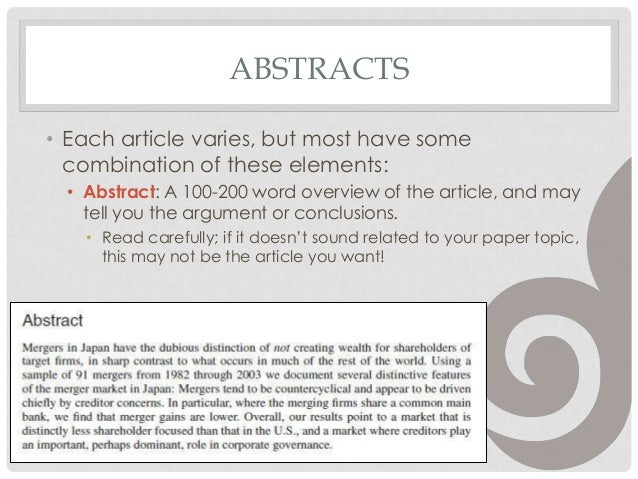 Reading Academic Journal Articles
