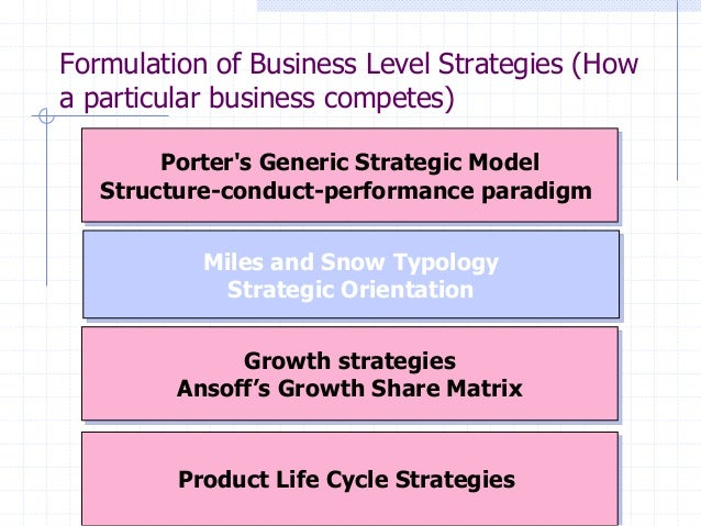 Miles and snow generic strategy typology