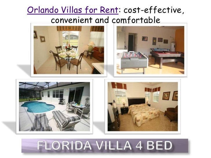 Orlando Villas for Rent: cost-effective, convenient and comfortable<br />Florida Villa 4 Bed<br />