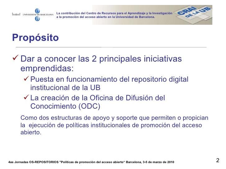 la contribuci n del crai a la promoci n del acceso abierto On oficina de acceso a la universidad barcelona