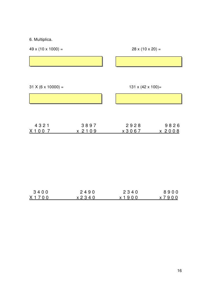 RECUERDO QUE:                La multiplicación tiene las siguientes propiedades:                      Conmutativa:       5...