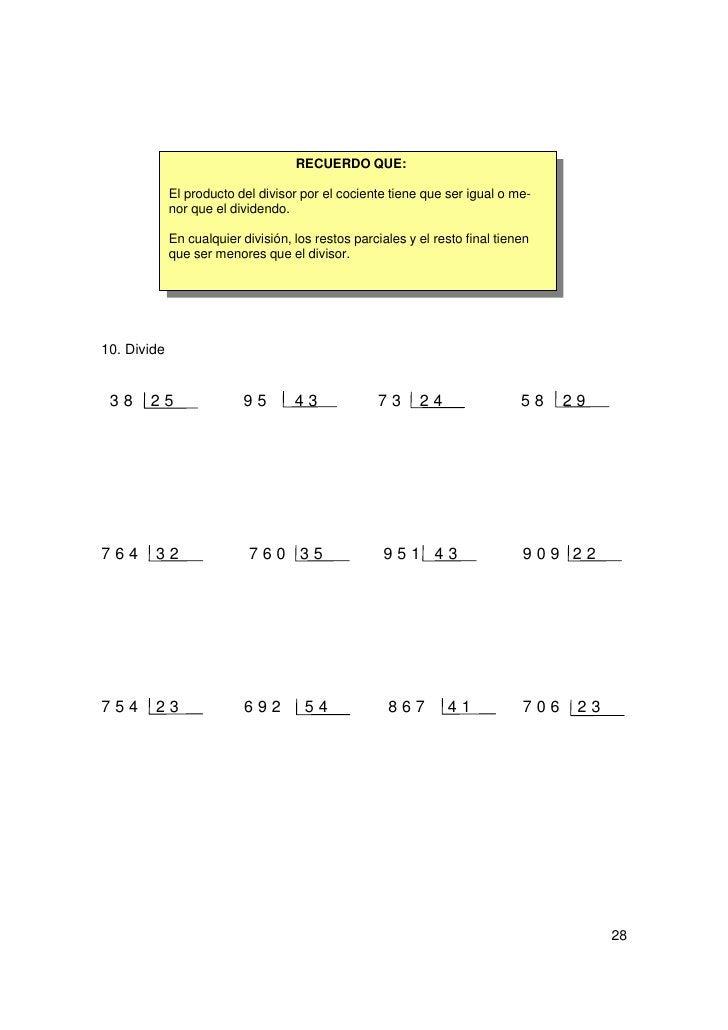 12. ProblemasAlejandro tiene en su finca 980 ciruelos colocados en 20 filas. ¿Cuántos hay encada fila?Paula ahorra cada se...