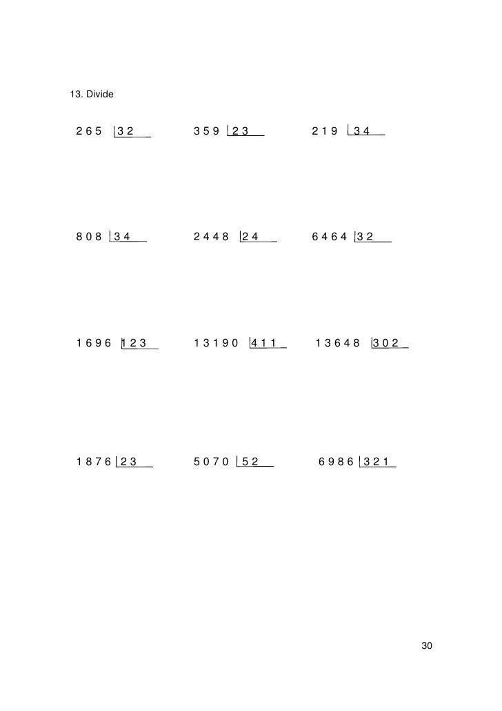 RECUERDO QUE:          Para hallar el cociente de dividir un número por la unidad seguida de          ceros, se separan en...