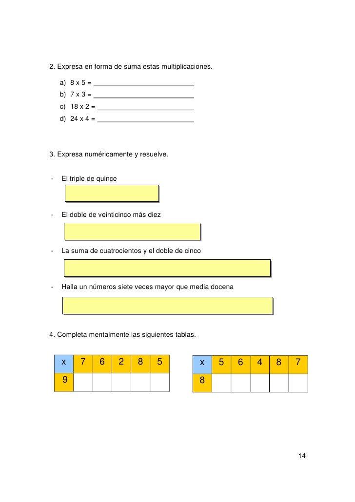 RECUERDO QUE:                 El producto de un número por la unidad seguida de ceros es                 dicho número segu...