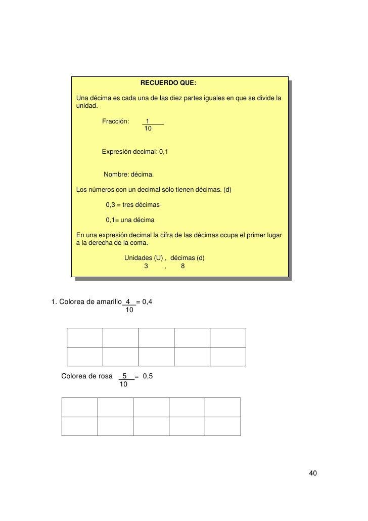 2. Escribe las décimas que están coloreadas3. escribe con expresión decimal:-   Tres décimas =-   Cinco décimas =-   Siete...