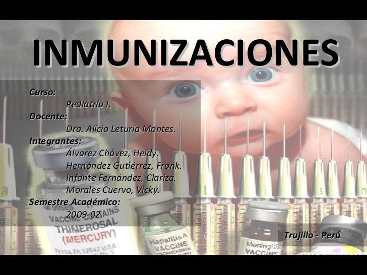 Curso: Pediatría I. Docente: Dra. Alicia Leturia Montes. Integrantes: Álvarez Chávez, Heidy. Hernández Gutiérrez, Frank. I...