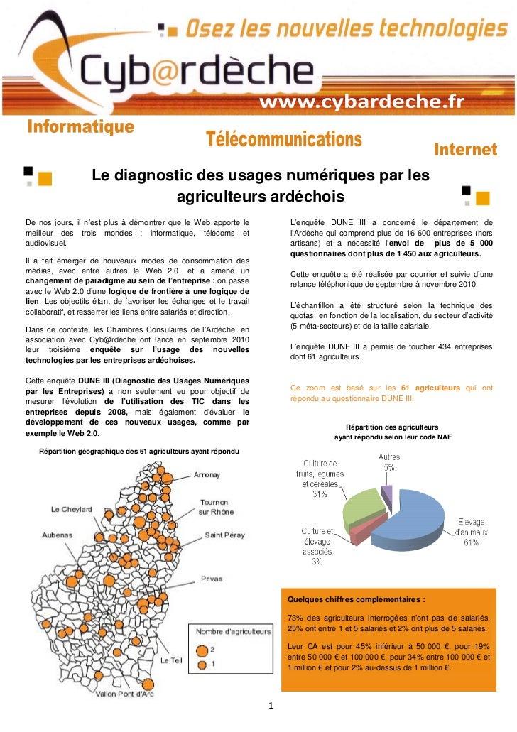 Le diagnostic des usages numériques par les                             agriculteurs ardéchoisDe nos jours, il n'est plus ...