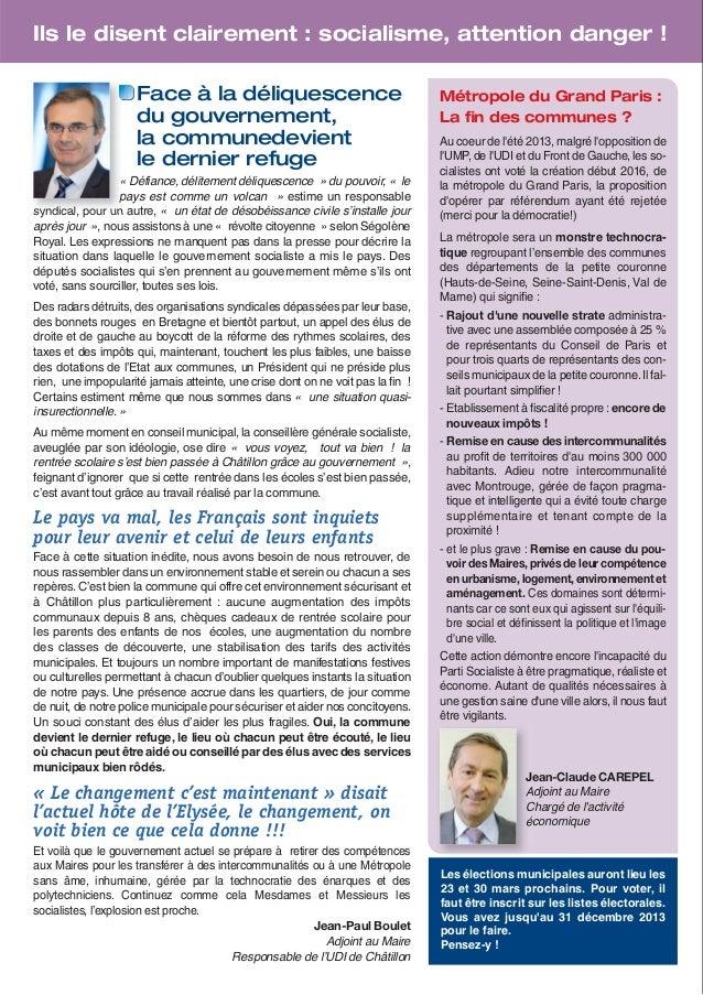 Echo de Châtillon, novembre 2013 Slide 2