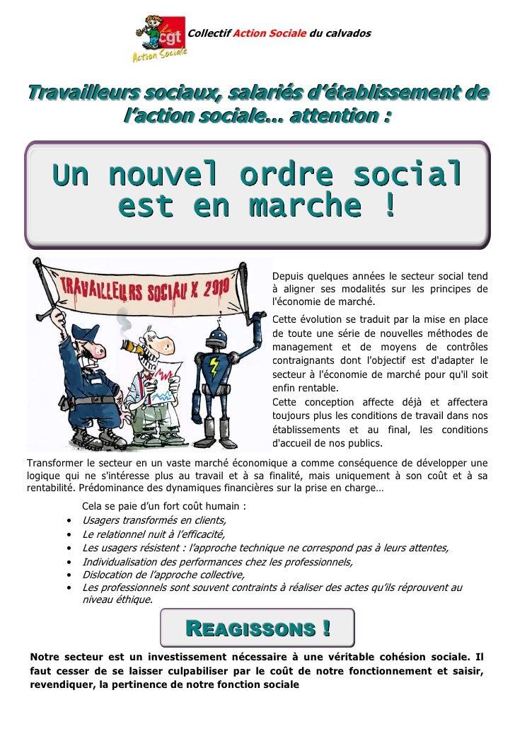 Collectif Action Sociale du calvados     Travailleurs sociaux, salariés d'établissement de           l'action sociale… att...