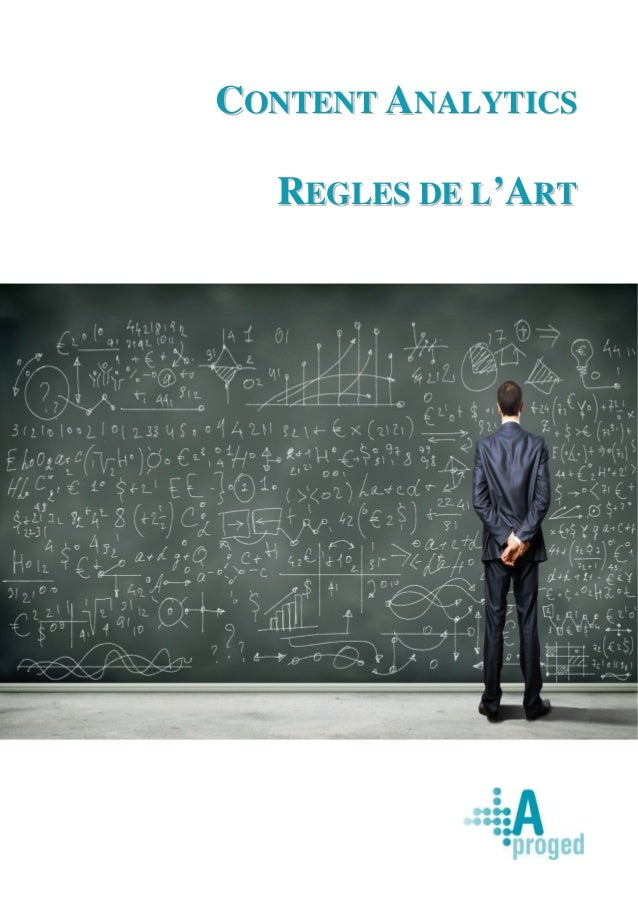 CONTENT ANALYTICS  REGLES DE L'ART
