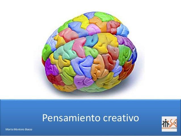 Pensamiento creativo Marta Montero Baeza